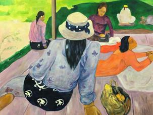 Reproduction of Paul Gauguin's [Siesta]