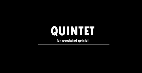 Quintet (woodwind)- DIGITAL DOWNLOAD
