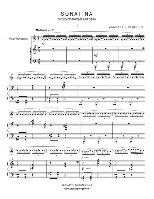Sonatina for Piccolo Trumpet and Piano - DIGITAL DOWNLOAD