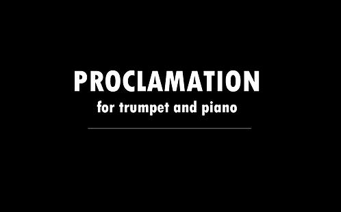 Proclamation - DIGITAL DOWNLOAD