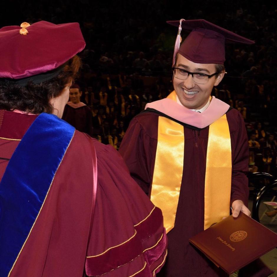 Graduation from Arizona State University