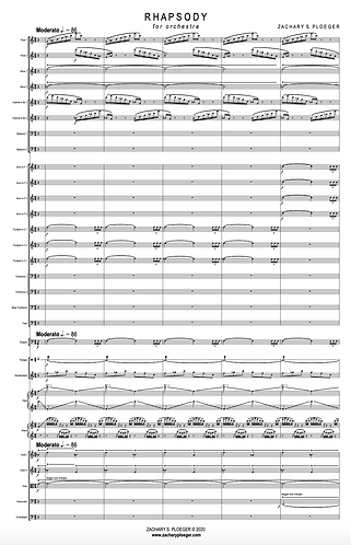 Rhapsody for Orchestra