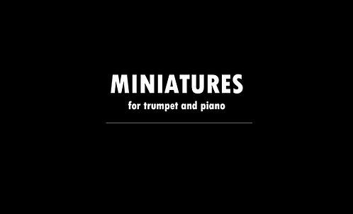 Miniatures for Trumpet and Piano - DIGITAL DOWNLOAD