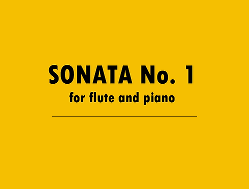 Sonata No. 1 for Flute and Piano - Physical Copy