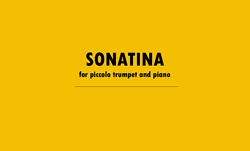Sonatina for Piccolo Trumpet and Piano
