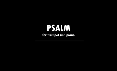 Psalm for Trumpet and Piano - DIGITAL DOWNLOAD