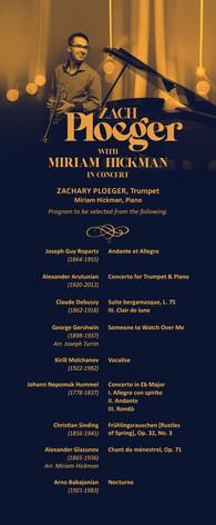 Concert Program Front