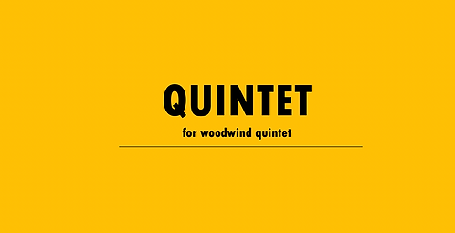 Quintet (woodwind)- Physical Copy