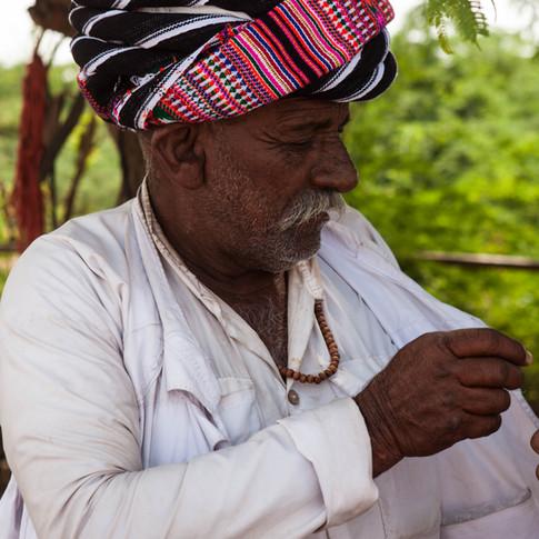 Chef de village au Kutch