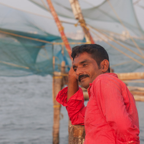 Pêcheur à Kochi