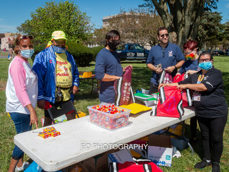 LEH United joins Business and Community Leaders in Friends in Action Annual Book Bag Drive.