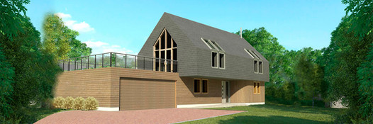Slate and timber house