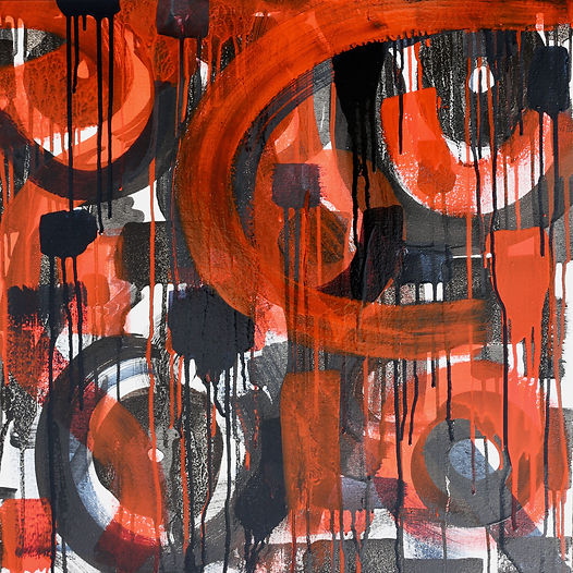 Jazz, Oil on canvas, 60 x 60 cm, 2021
