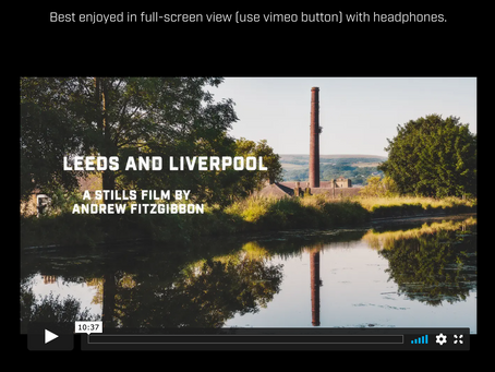 Voiced moving stills short film on Leeds Liverpool canal.
