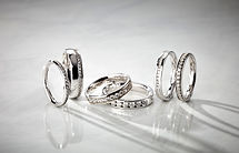 Diamond Set Wedding Bands- Domino Jewell