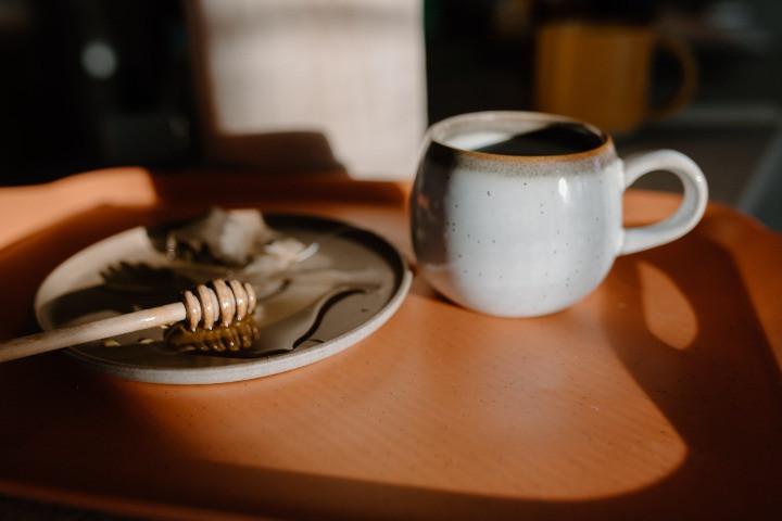 cafe và mật ong