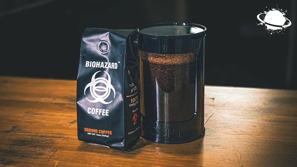 hộp cafe từ Biohazard Ground