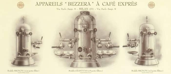 thiết kế máy pha cafe của Luigi Bezzera