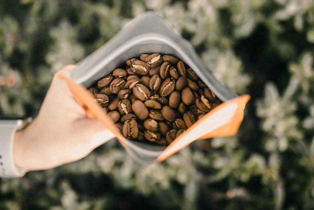 Gói đựng hạt cà phê Arabica