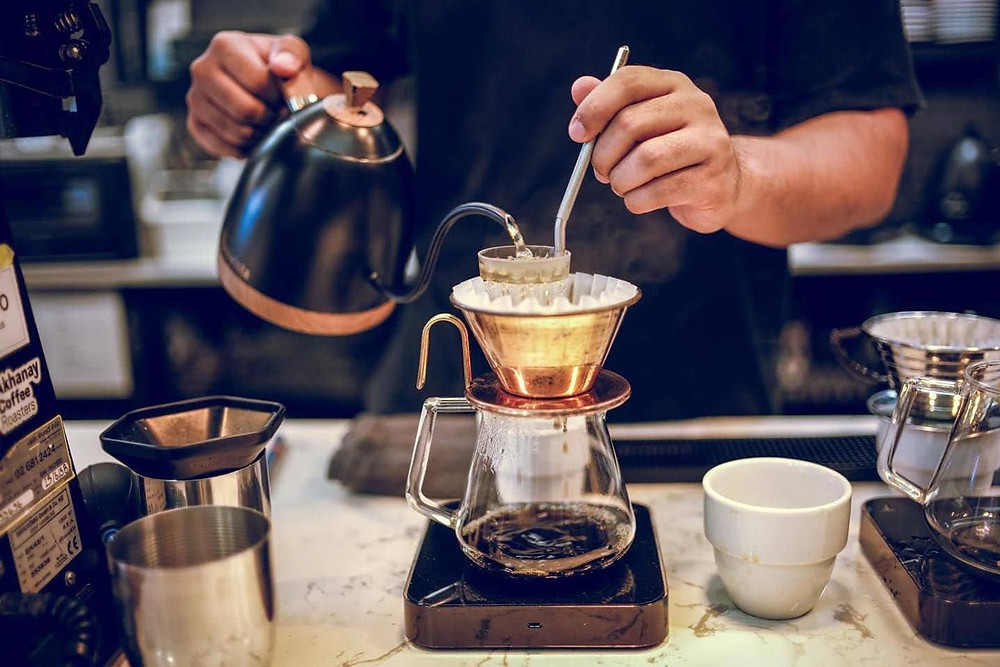 barista chuyên về specialty coffee ở Thái Lan
