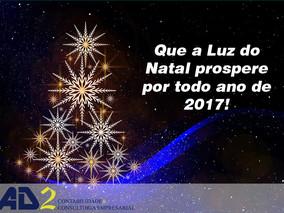 A equipe da AD2 Consultoria deseja um Natal de paz e harmonia e um Ano Novo de realizações e conquis