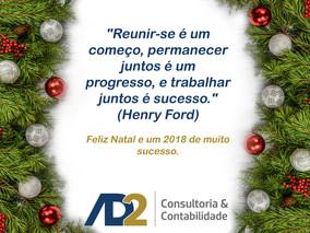 Feliz Natal e um 2018 de muito sucesso.