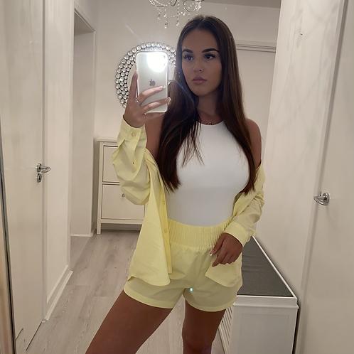 Yellow shirt & shorts set