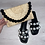 Thumbnail: Black double Pearl sandals