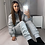 Thumbnail: Grey ruched tracksuit