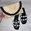 Thumbnail: Black Pom Pom clutch bag