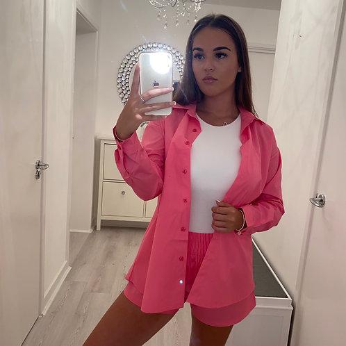 Pink shirt & shorts set