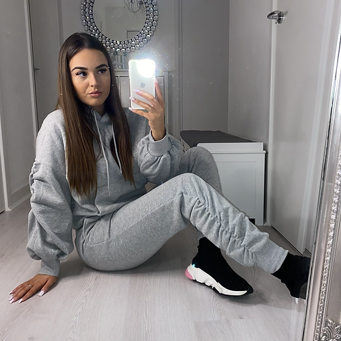 Grey ruched tracksuit