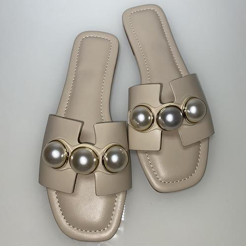 Cream Pearl Sandals