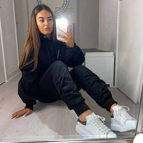 Black Ruched Tracksuit
