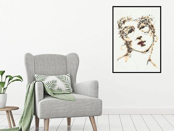 Burning Love - Artwork Print by Celio Bordin