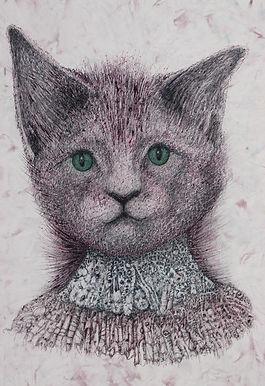 Cat Limited Edition Giclée Art Print by Celio Bordin