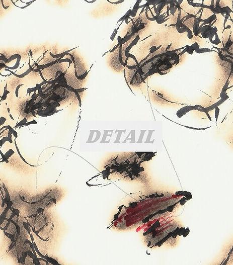 Detail of Burning Love - Artwork Print by Celio Bordin