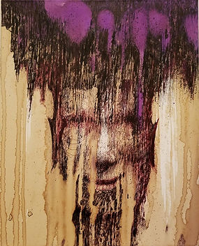 Shamy 16 in x 20 in Fountain Pen Ink on