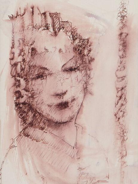 Pink Woman Artwork print by Celio Bordin