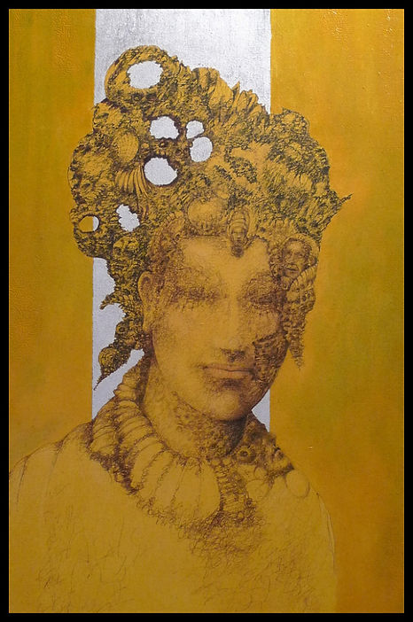 Need Love Original Fountain Pen Drawing on Canvas by Celio Bordin