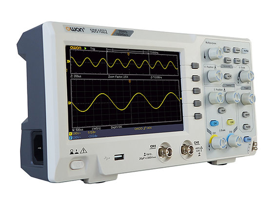 SDS1102 Oscilloscope 100Mhz 1GSa/s 10K 2 channel