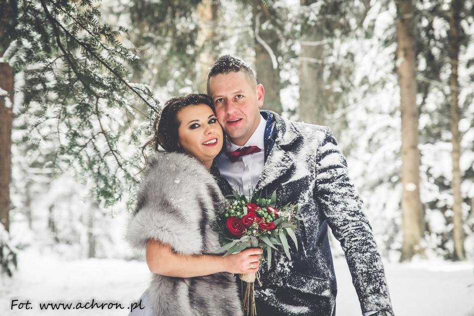 Zimową porą... Iwona i Marcin