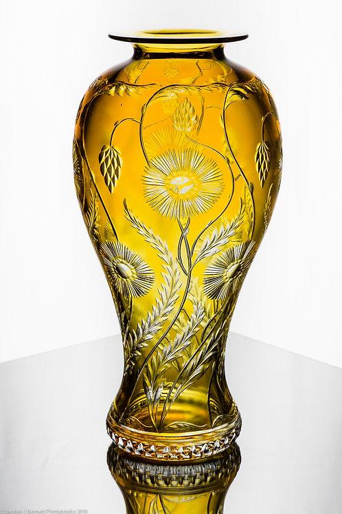 Golden Oriel Vase