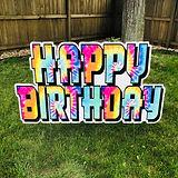 Happy Birthday Tie Dye Mini Billboard