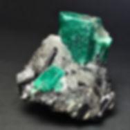 Emerald and Tourmaline Specimen - Fine Mineral Specimen