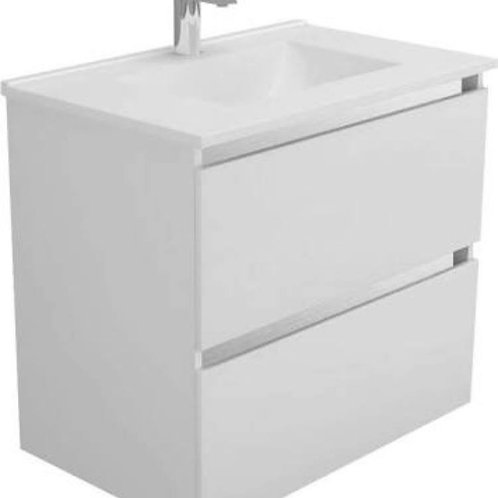 600mm Double-Drawer Wall-Hung Vanity Unit