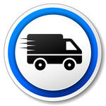 delivery-icon-with-silhouette-of-lorry-o