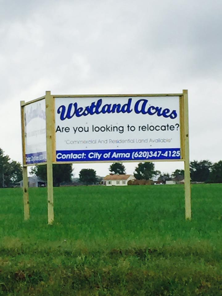 Westland Acres Alum Sign