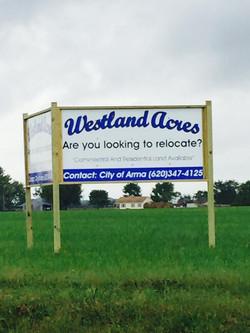 Westland Acres Alum Sign