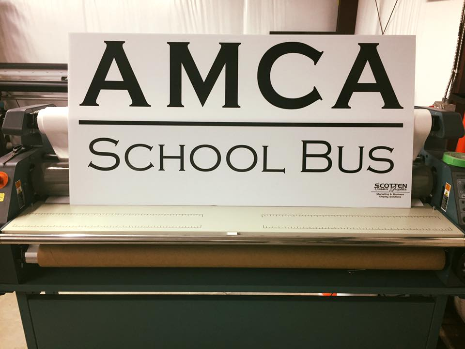 AMCA Corrugated sign